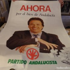 Carteles Políticos: CARTEL AÑOS 80, PEDRO PACHECO CANDIDATO PARTIDO ANDALUCISTA, 70X100 MM. Lote 137488830