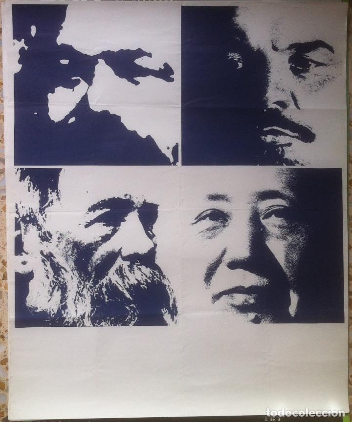 POSTER MARX, LENIN, ENGELS, MAO - 1976 - 50 X 66 EX (Coleccionismo - Carteles gran Formato - Carteles Políticos)