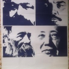 Carteles Políticos: POSTER MARX, LENIN, ENGELS, MAO - 1976 - 50 X 66 EX. Lote 139484258