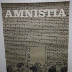 Carteles Políticos: AMNISTIA-CARTEL POLITICO-ILUSTRADO POR CESC-1976-SEIX BARRAL.. Lote 140539758