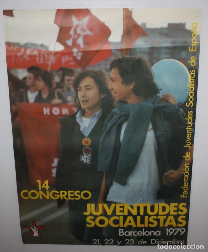 14 CONGRESO JUVENTUDES SOCIALISTAS-BARCELONA 1979. (Coleccionismo - Carteles gran Formato - Carteles Políticos)