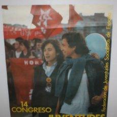 Carteles Políticos: 14 CONGRESO JUVENTUDES SOCIALISTAS-BARCELONA 1979.. Lote 140547666