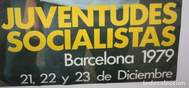 Carteles Políticos: 14 CONGRESO JUVENTUDES SOCIALISTAS-BARCELONA 1979. - Foto 3 - 140547666