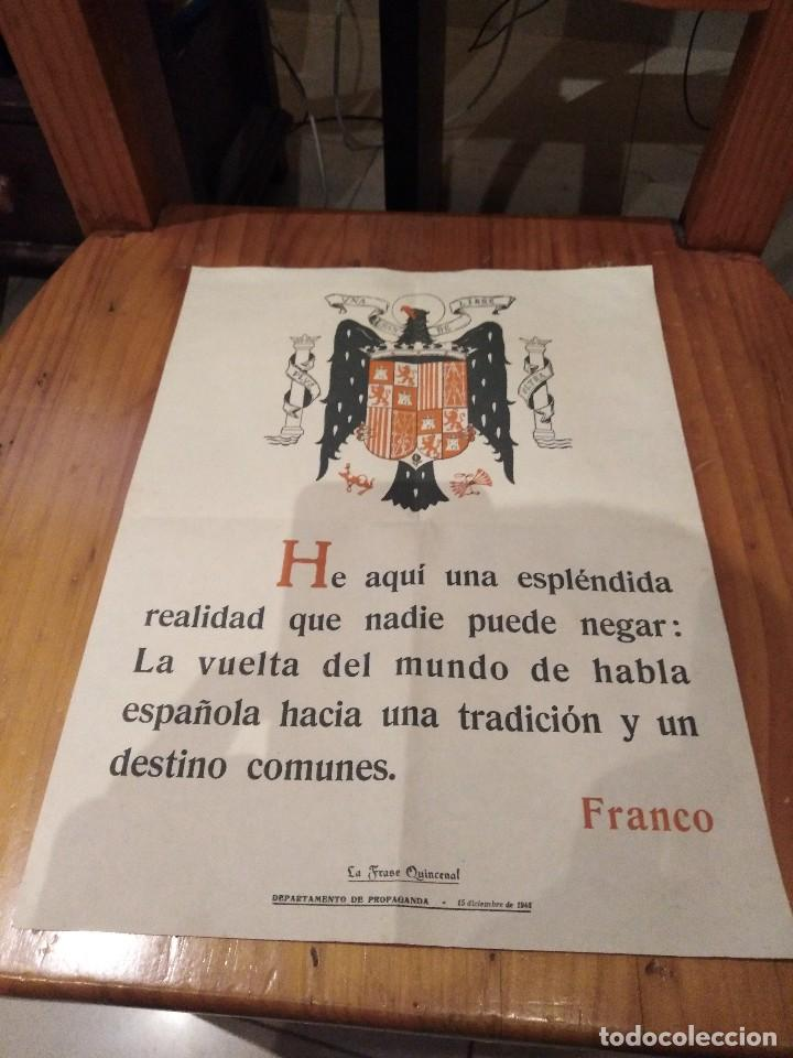 CARTEL DE PROPAGANDA FRANQUISTA DE 1948 (Coleccionismo - Carteles gran Formato - Carteles Políticos)