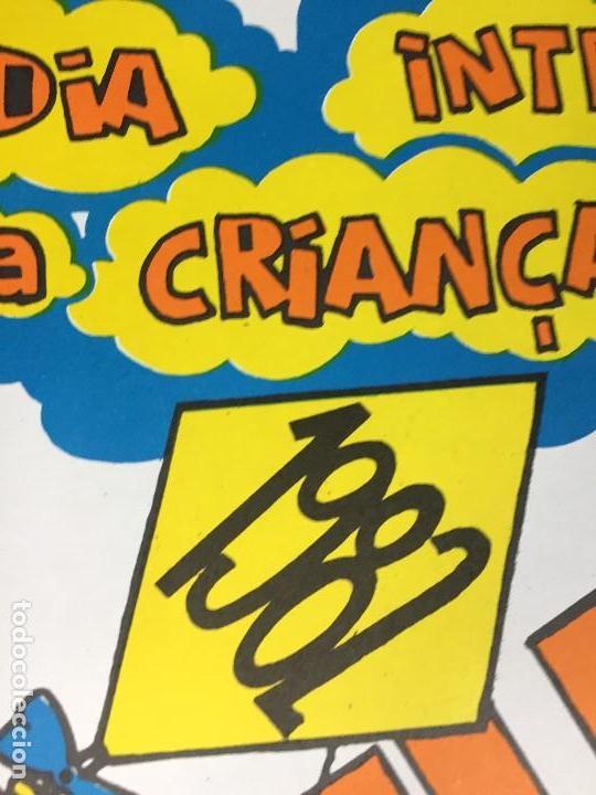 Carteles Políticos: cartel politico dia internacional criança 1982 niño republica popular moçambique desarrollo festa - Foto 2 - 144452086