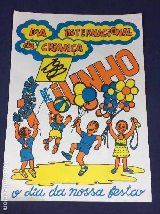CARTEL POLITICO DIA INTERNACIONAL CRIANÇA 1982 NIÑO REPUBLICA POPULAR MOÇAMBIQUE DESARROLLO FESTA (Coleccionismo - Carteles gran Formato - Carteles Políticos)