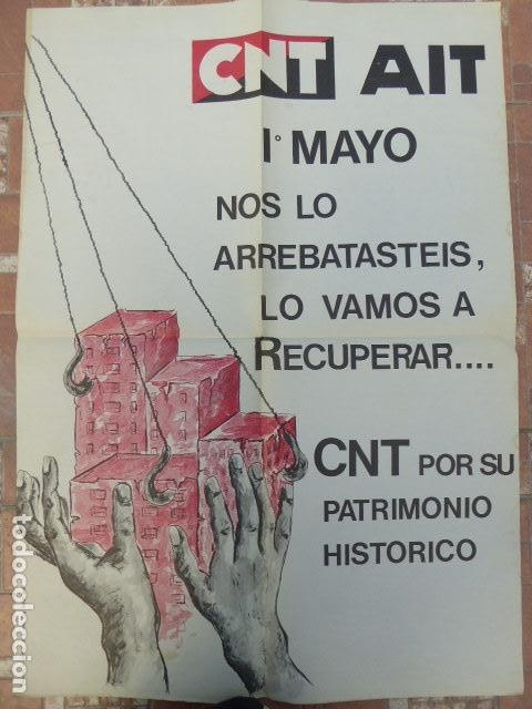 CARTEL CNT / AIT. 1º DE MAYO. 1980. 49 X 70 CM (Coleccionismo - Carteles gran Formato - Carteles Políticos)