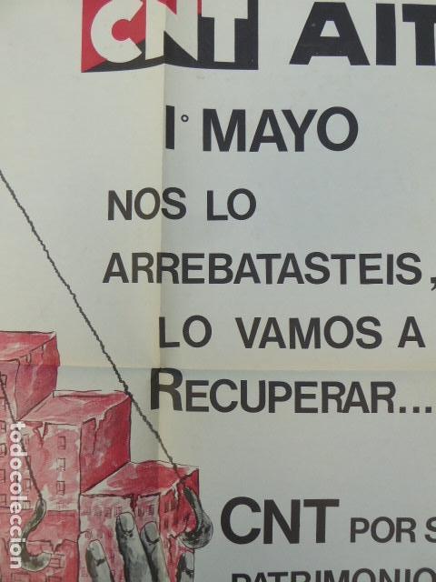 Carteles Políticos: CARTEL CNT / AIT. 1º DE MAYO. 1980. 49 X 70 CM - Foto 6 - 145411686