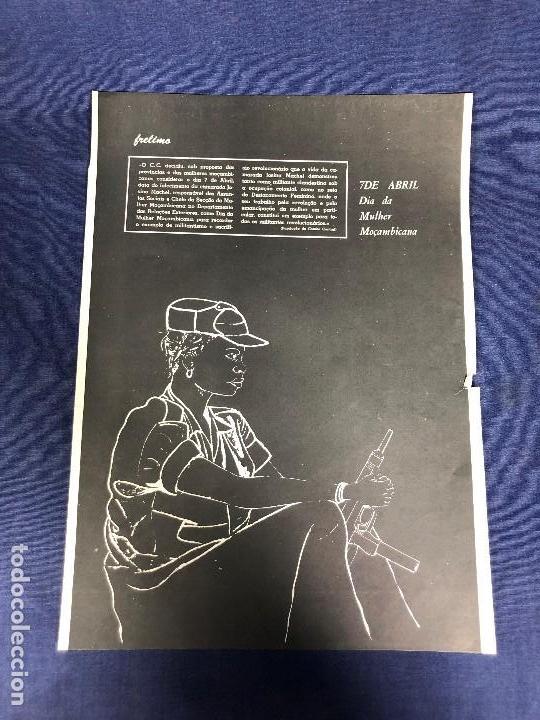 CARTEL MOÇAMBIQUE AÑOS 70 7 ABRIL MULHER FRELIMO 38X27,5CMS (Coleccionismo - Carteles gran Formato - Carteles Políticos)