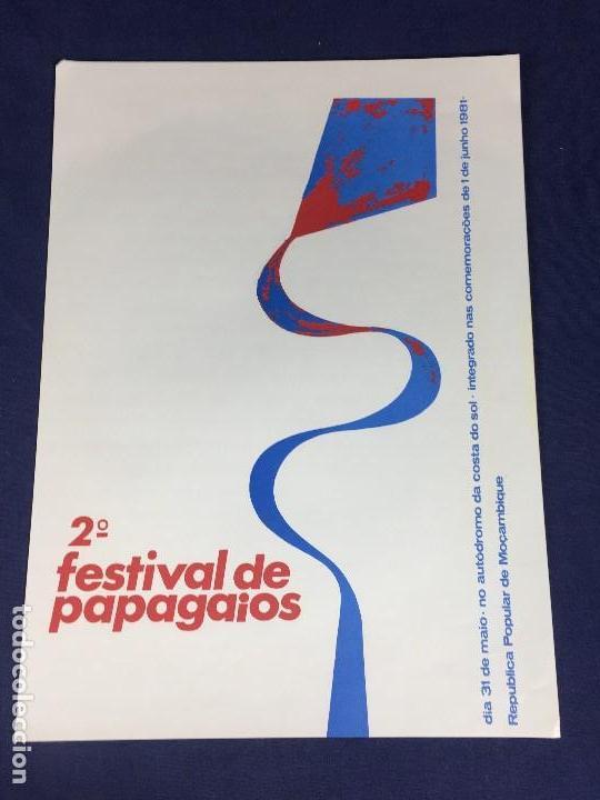 CARTEL MOÇAMBIQUE 2 FESTIVAL PAPAGAIOS 31 MAIO 1981 38X27,5CMS (Coleccionismo - Carteles gran Formato - Carteles Políticos)