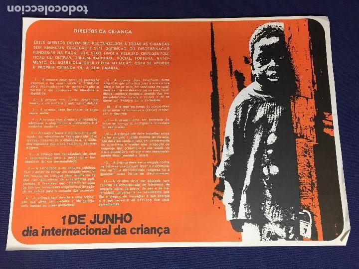 CARTEL MOÇAMBIQUE 1 JUNHO DIA INTERNACIONAL CRIANÇA 38X27,5CMS (Coleccionismo - Carteles gran Formato - Carteles Políticos)