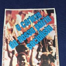 Carteles Políticos: CARTEL MOÇAMBIQUE 4 CONGRESSO FRELIMO 1 JUNHO 1983 PATRIA SOCIALISTA 37,5X28CMS. Lote 145508670
