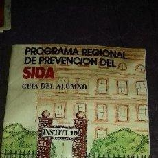 Carteles Políticos: ANTIGUO FOLLETO IMFORMACION DE PROGRAMA REGIONAL DE PREVENCION DEL.SIDA AÑOS 90. Lote 148219130