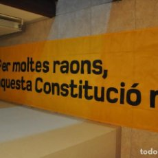 Carteles Políticos: PANCARTA DE TELA ESQUERRA REPUBLICANA DE CATALUNYA, ERC. Lote 149187934