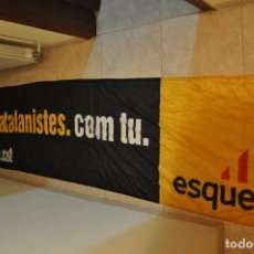 Carteles Políticos: PANCARTA DE TELA ESQUERRA REPUBLICANA DE CATALUNYA, ERC. Lote 149188082