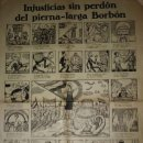 Carteles Políticos: 1931 INJUSTICIAS SIN PERDÓN DEL PIERNA LARGA BORBÓN. MONARQUÍA. DEMOCRACIA. REPÚBLICA. AUCA 65,5X45. Lote 114294887