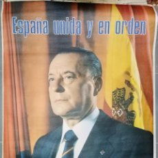 Carteles Políticos: ANTIGUA CARTEL PROPAGANDA POLITICA DE FUERZA NUEVA - VOTA - ESPAÑA UNIDA Y EN ORDEN - BLAS PIÑAR - 1. Lote 153522238