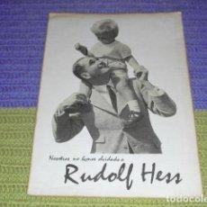 Carteles Políticos: CARTEL - RUDOLF HESS -. Lote 157103606
