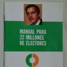 Carteles Políticos: MANUAL POLITICO UCD ELECCIONES 1977.. Lote 159101578
