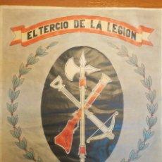 Carteles Políticos: CARTEL ORIGINAL 30X42 CM * TERCIO DE LA LEGIÓN ALEJANDRO FARNESIO *. Lote 159933806