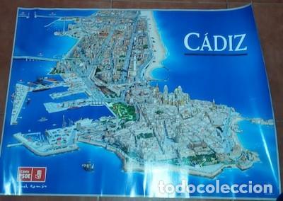 CARTEL DE CÁDIZ CON PUBLICIDAD DE RAFAEL ROMÁN, DEL PSOE, 2007 (Coleccionismo - Carteles gran Formato - Carteles Políticos)
