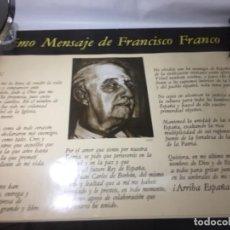 Carteles Políticos: ORIGINAL ANTIGUO CARTEL FRANCISCO FRANCO 1975. Lote 161662730
