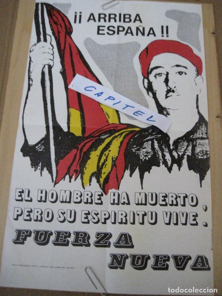 Carteles Políticos: CARTEL DE FUERZA NUEVA DE 1977 Y DECLARACION PROGRAMATICA DE FUERZA NUEVA. - Foto 2 - 161952594
