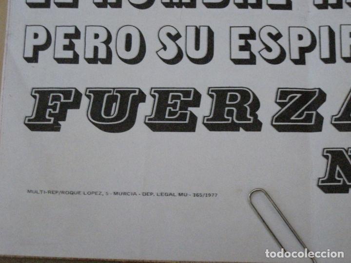 Carteles Políticos: CARTEL DE FUERZA NUEVA DE 1977 Y DECLARACION PROGRAMATICA DE FUERZA NUEVA. - Foto 3 - 161952594