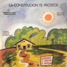 Carteles Políticos: DIRECCION GENERAL DE JUVENTUD Y PROMOCION SOCIO-CULTURAL. AEJES. MOJPE. 1981. 69 X 48.5 CM.. Lote 164689734