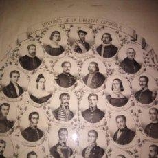 Carteles Políticos: MARTIRES DE LA LIBERTAD ESPAÑOLA 1869 DIAZ POLIER, BURILLO MARIANA PINEDA SOLIS Y CUETOS MALDONADO. Lote 167003488