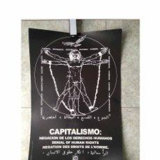 Affissi Politici: CARTEL POLÍTICO CAPITALISMO, NEGACION DE LOS DERECHOS HUMANOS. Lote 167289468