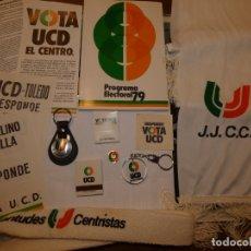 Carteles Políticos: LOTE PUBLICITARIO DE UCD UNIÓN DE CENTRO DEMOCRÁTICO Y JUVENTUDES CENTRISTAS, ELECCIONES 1979. . Lote 167470296