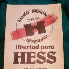 Carteles Políticos: CARTEL LIBERTAD RUDOLF HESS (1981). Lote 167858840