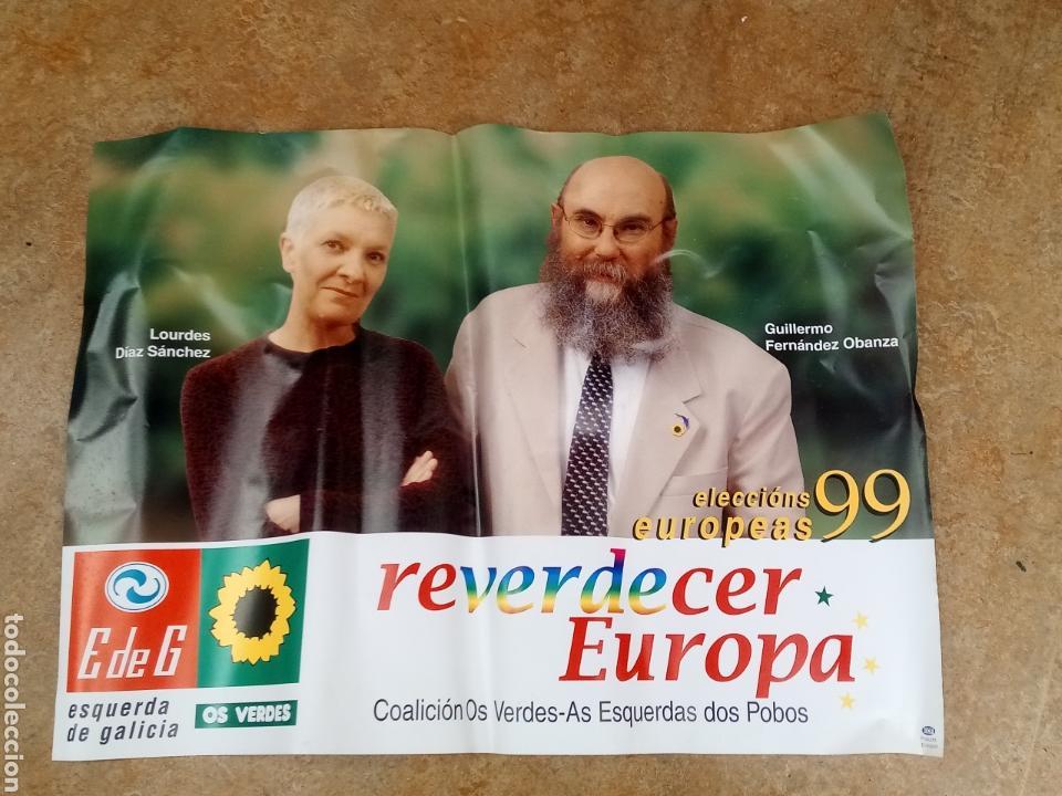 CARTEL POLÍTICO. ELECCIONES EUROPEAS 1999. (Coleccionismo - Carteles gran Formato - Carteles Políticos)