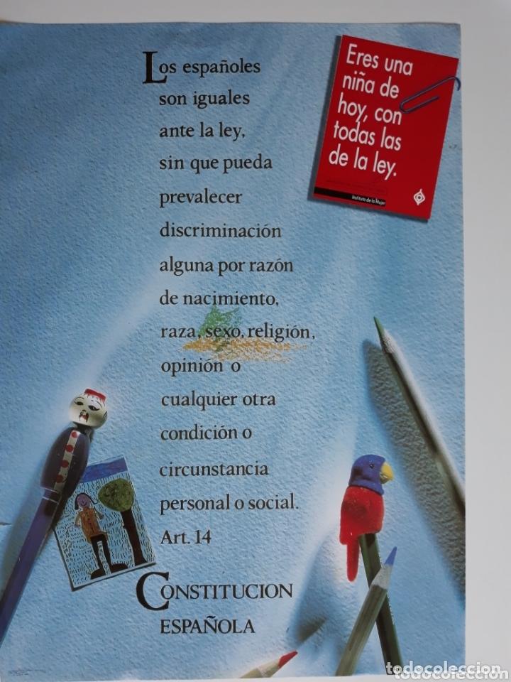 POSTER ART 14 CONSTITUCIÓN ESPAÑOLA 1989 68 X 49 CM (Coleccionismo - Carteles gran Formato - Carteles Políticos)