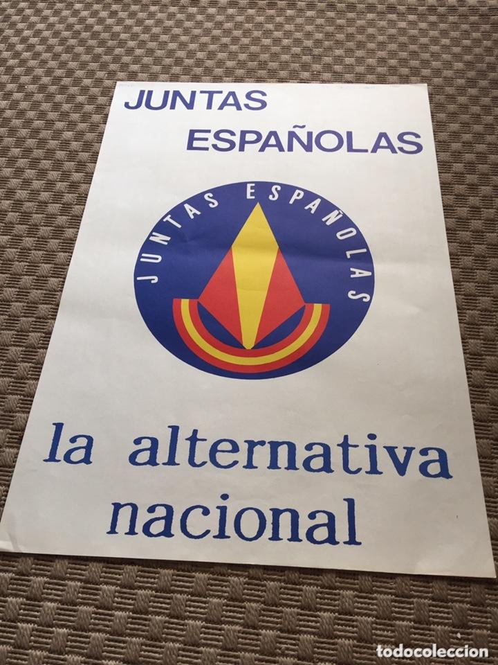 ANTIGUO CARTEL POLITICO JUNTAS ESPAÑOLAS,TRANSICIÓN POLÍTICA,AÑOS 80 (Coleccionismo - Carteles gran Formato - Carteles Políticos)