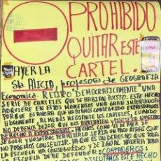 Carteles Políticos: CADIZ, 1976. ESCUELA DE MAGISTERIO. CENSURA. SOLICITUD DE ASAMBLEA. . Lote 174560743