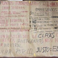 Carteles Políticos: CADIZ, 1976. CARTEL PRETENCIONES ECONOMICAS Y LIBERTARIAS. PARO AL EMPRESARIO. . Lote 174561519