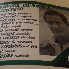 Carteles Políticos: SEVILLA, 1977, CARTEL PARTIDO COMUNISTA DE ESPAÑA, PCE, CANDIDATOS AL SENADO,43X32 CMS. Lote 175745733