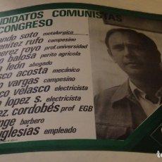 Carteles Políticos: SEVILLA, 1977, CARTEL PARTIDO COMUNISTA DE ESPAÑA, PCE, CANDIDATOS AL SENADO,43X32 CMS. Lote 175745759