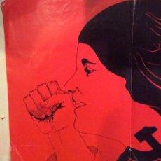 Carteles Políticos: CARTEL DEL PCE, PARTIDO COMUNISTA DE ESPAÑA, LIBERTAD DE LA MUJER. AÑOS 1970, TRANSICIÓN.. Lote 177829315