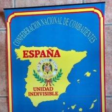 Carteles Políticos: ALMANAQUE NACIONAL PARA 1990 DE LA CONFEDERACIÓN NACIONAL DE COMBATIENTES DE ESPAÑA. Lote 179111935