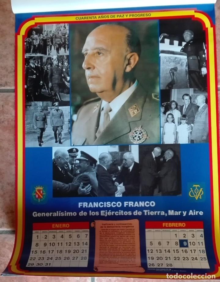 Carteles Políticos: Almanaque nacional para 1990 de la Confederación Nacional de Combatientes de España - Foto 2 - 179111935