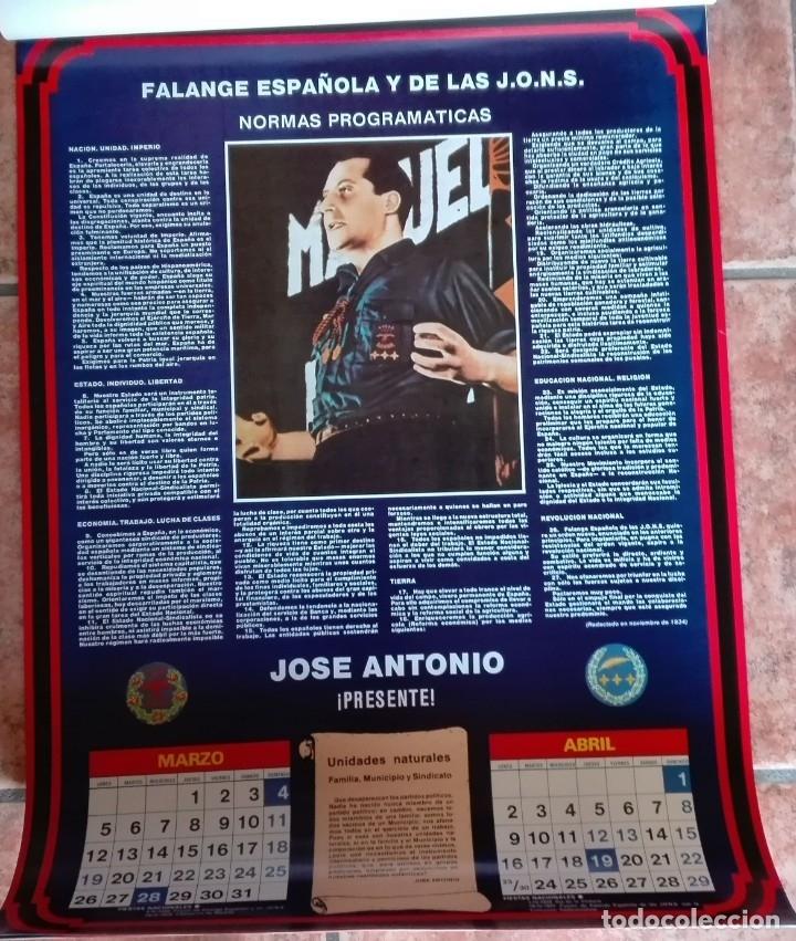 Carteles Políticos: Almanaque nacional para 1990 de la Confederación Nacional de Combatientes de España - Foto 3 - 179111935