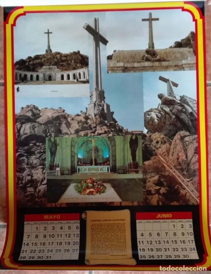 Carteles Políticos: Almanaque nacional para 1990 de la Confederación Nacional de Combatientes de España - Foto 4 - 179111935