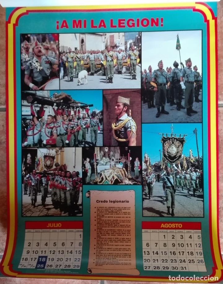 Carteles Políticos: Almanaque nacional para 1990 de la Confederación Nacional de Combatientes de España - Foto 5 - 179111935