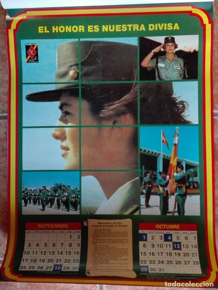 Carteles Políticos: Almanaque nacional para 1990 de la Confederación Nacional de Combatientes de España - Foto 6 - 179111935