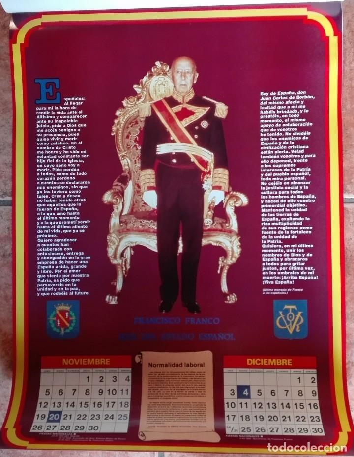 Carteles Políticos: Almanaque nacional para 1990 de la Confederación Nacional de Combatientes de España - Foto 7 - 179111935