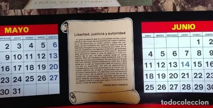Carteles Políticos: Almanaque nacional para 1990 de la Confederación Nacional de Combatientes de España - Foto 8 - 179111935
