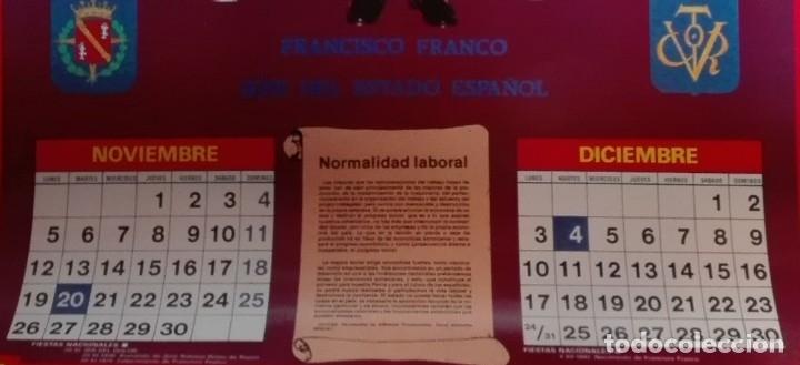 Carteles Políticos: Almanaque nacional para 1990 de la Confederación Nacional de Combatientes de España - Foto 9 - 179111935